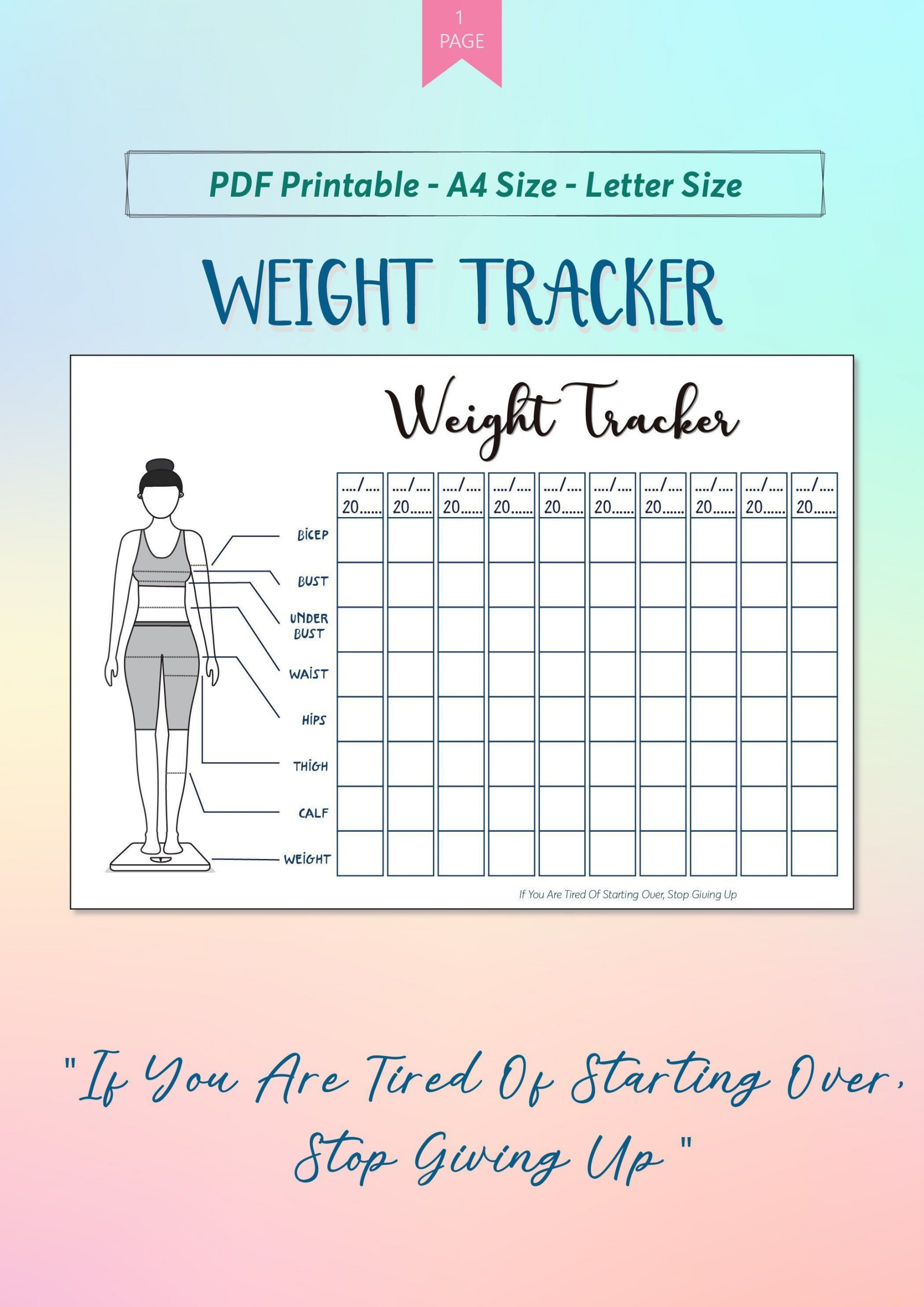 005 Fascinating Weight Los Tracker Template Sample  Weekly In Thi Body I Live Instagram 2019 20201920