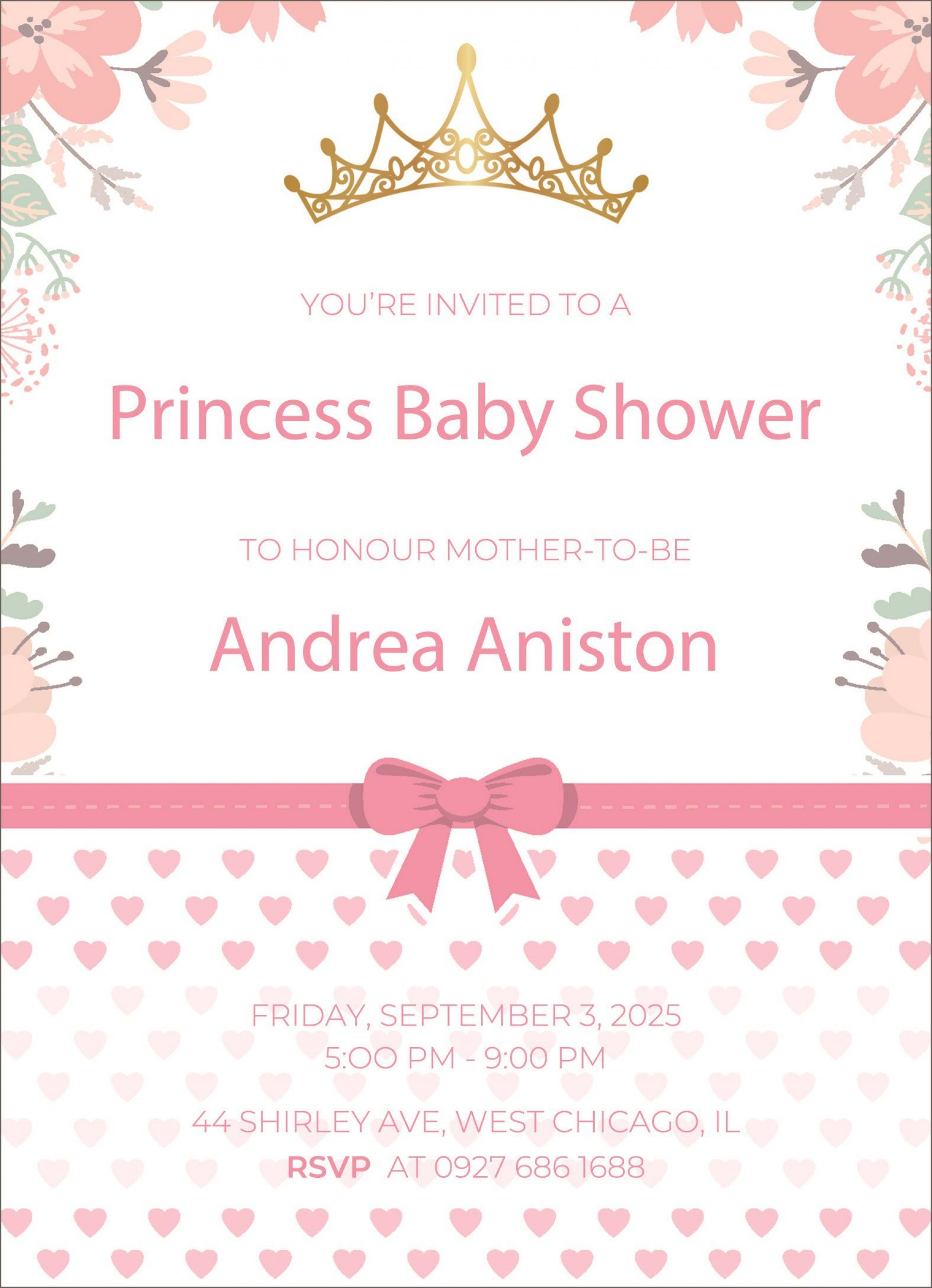 005 Fearsome Baby Shower Announcement Template High Resolution  Templates Invitation India Indian Free With Photo1920