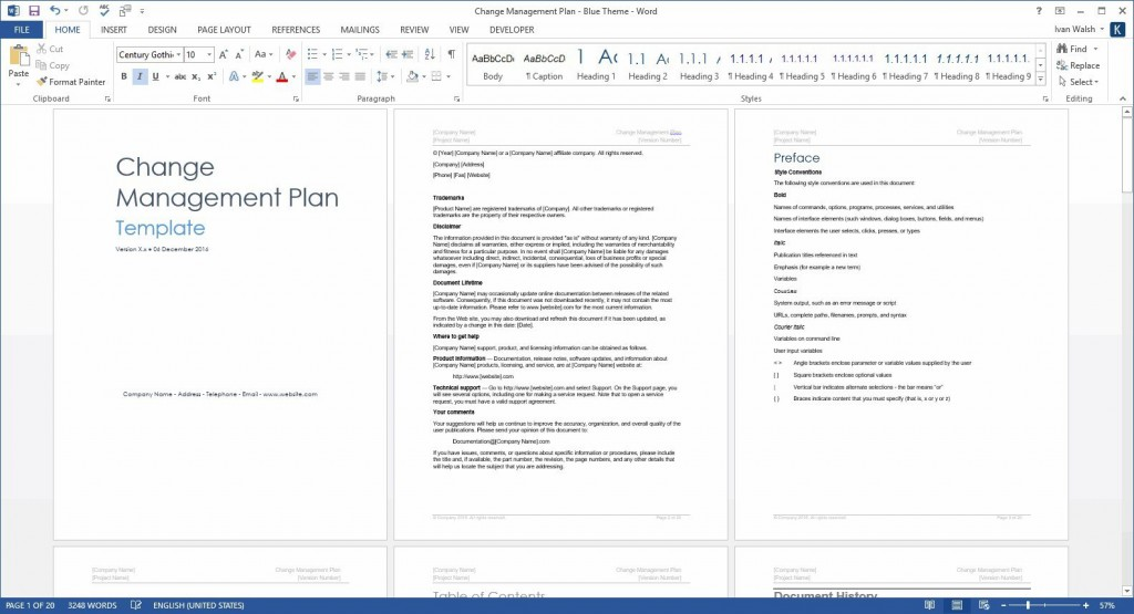 005 Fearsome Change Management Planning Template Sample  Plan Example PptLarge