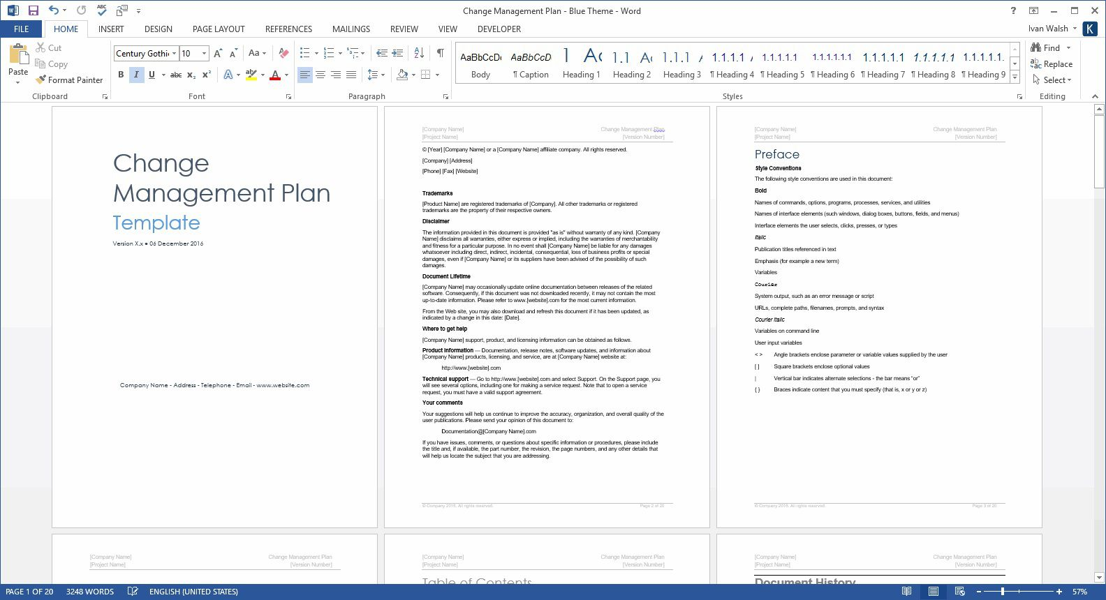 005 Fearsome Change Management Planning Template Sample  Plan Example PptFull
