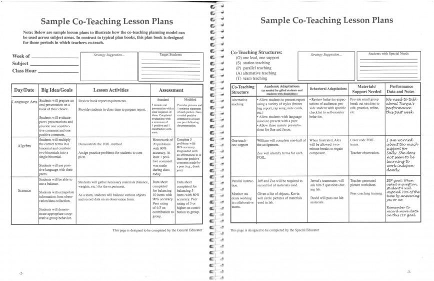 005 Fearsome Elementary School Lesson Plan Template Photo  Sample For Free