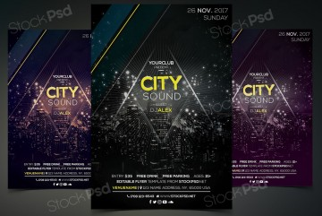 005 Fearsome Event Flyer Template Free Psd High Resolution  Music Boxing360