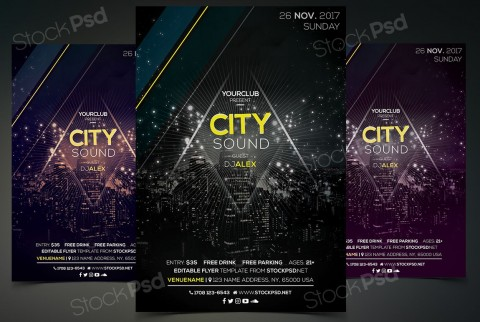 005 Fearsome Event Flyer Template Free Psd High Resolution  Music Boxing480