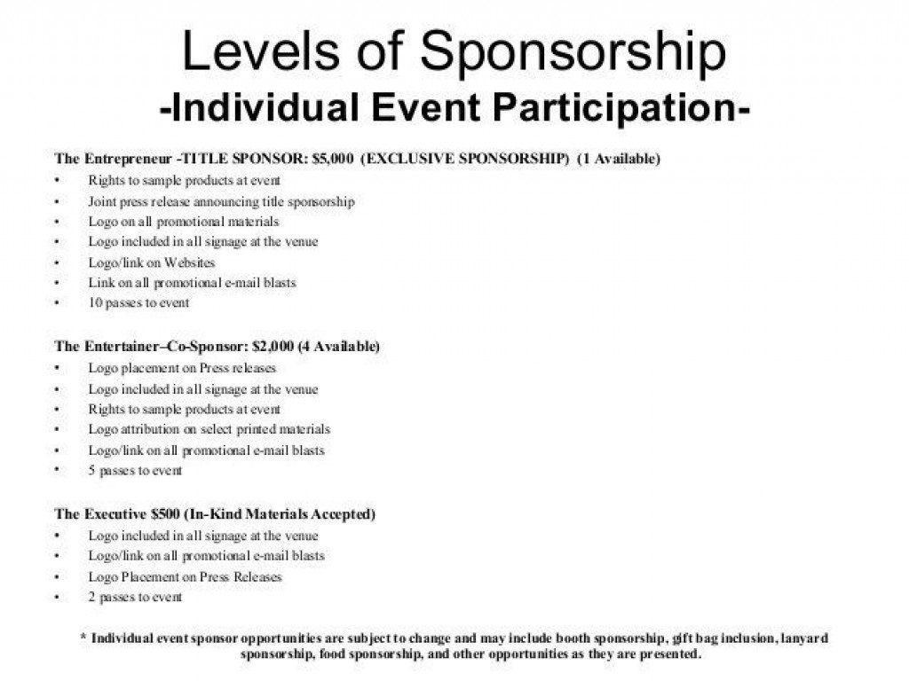 005 Fearsome Event Sponsorship Proposal Sample Pdf  For Letter Music TemplateLarge