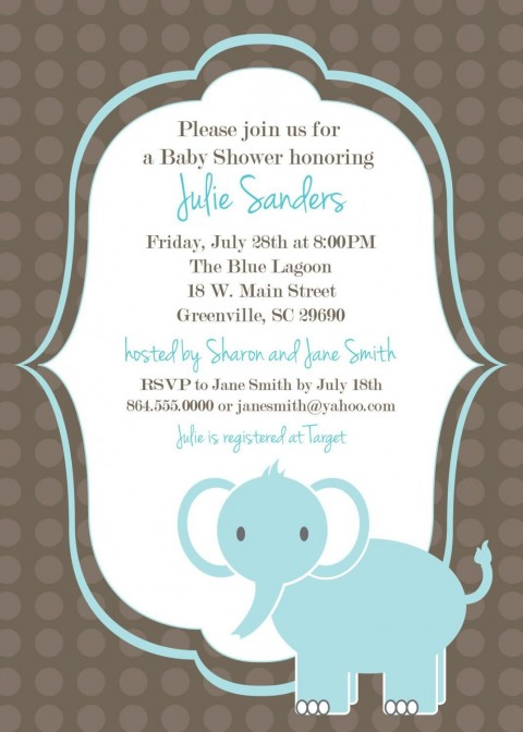 005 Fearsome Free Baby Shower Invitation Template Example  Printable For A Girl Microsoft Word480