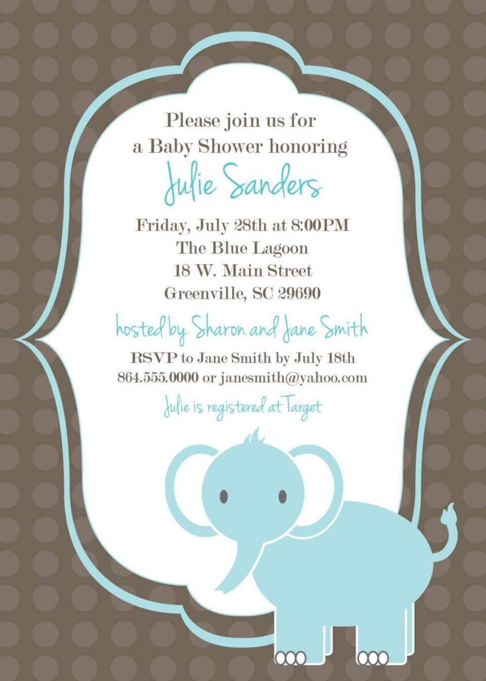 005 Fearsome Free Baby Shower Invitation Template Example  Printable For A Girl Microsoft Word960
