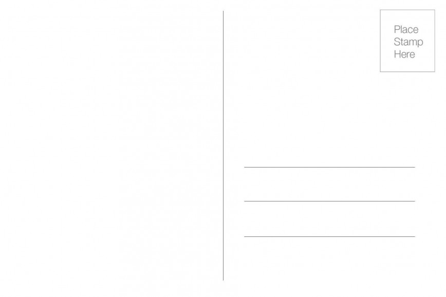 005 Fearsome Free Blank Postcard Template For Word Example  Printable