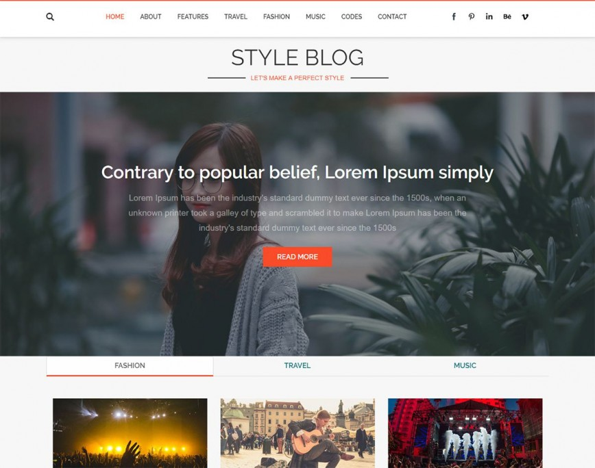 005 Fearsome Free Responsive Blogger Theme Concept  Template One Column Html5 Blog Download Wordpres