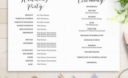 005 Fearsome Free Wedding Order Of Service Template Microsoft Word Design