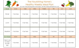 005 Fearsome Meal Plan Template Free Sample  Sheet Pdf Printable Daily