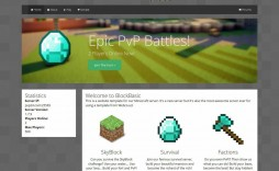 005 Fearsome Minecraft Website Template Html Free Download Highest Quality