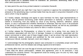 005 Fearsome Model Release Form Template Inspiration  Photographer Gdpr Simple