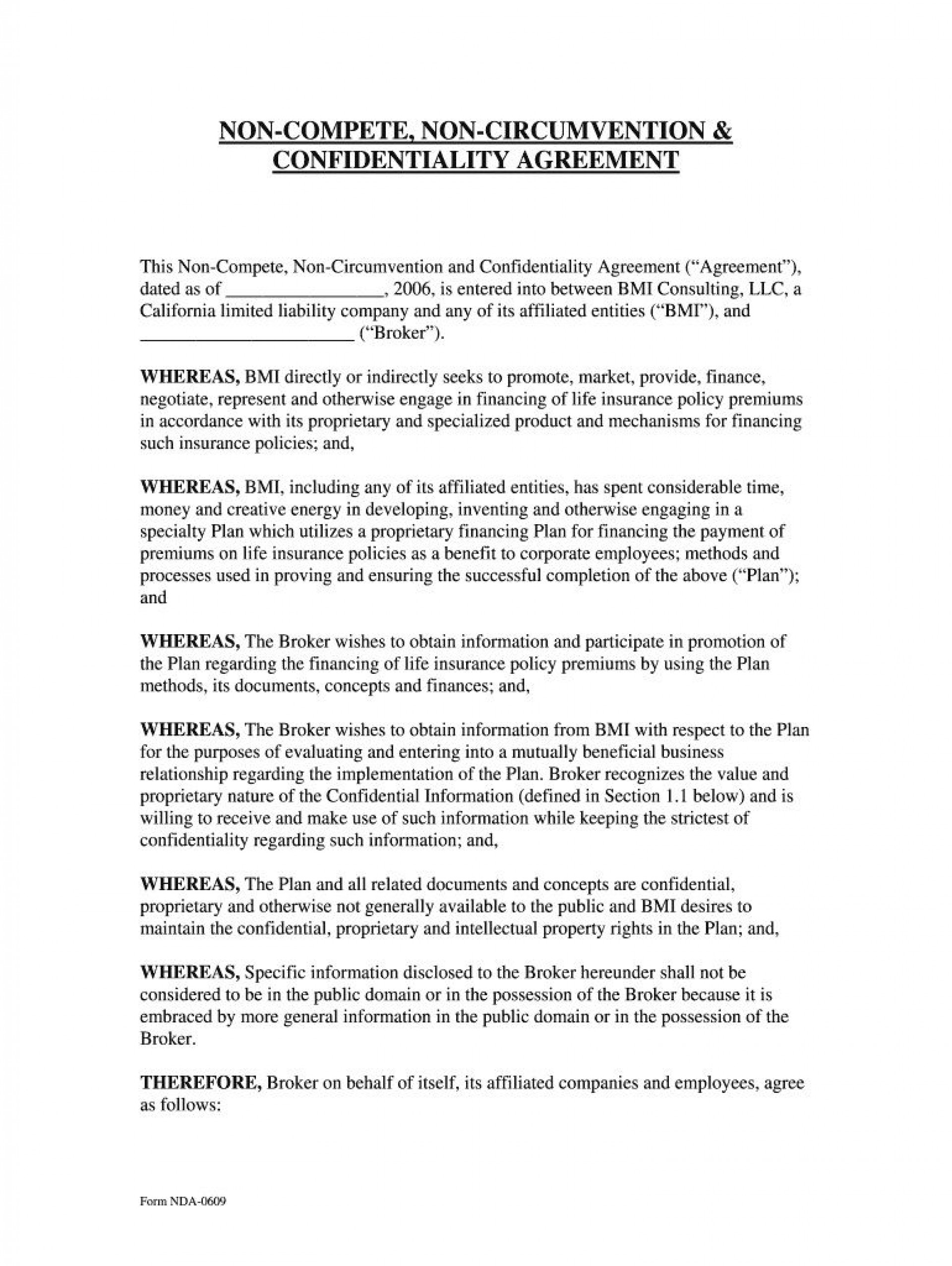 005 Fearsome Non Compete Agreement Florida Template Highest Clarity 1920