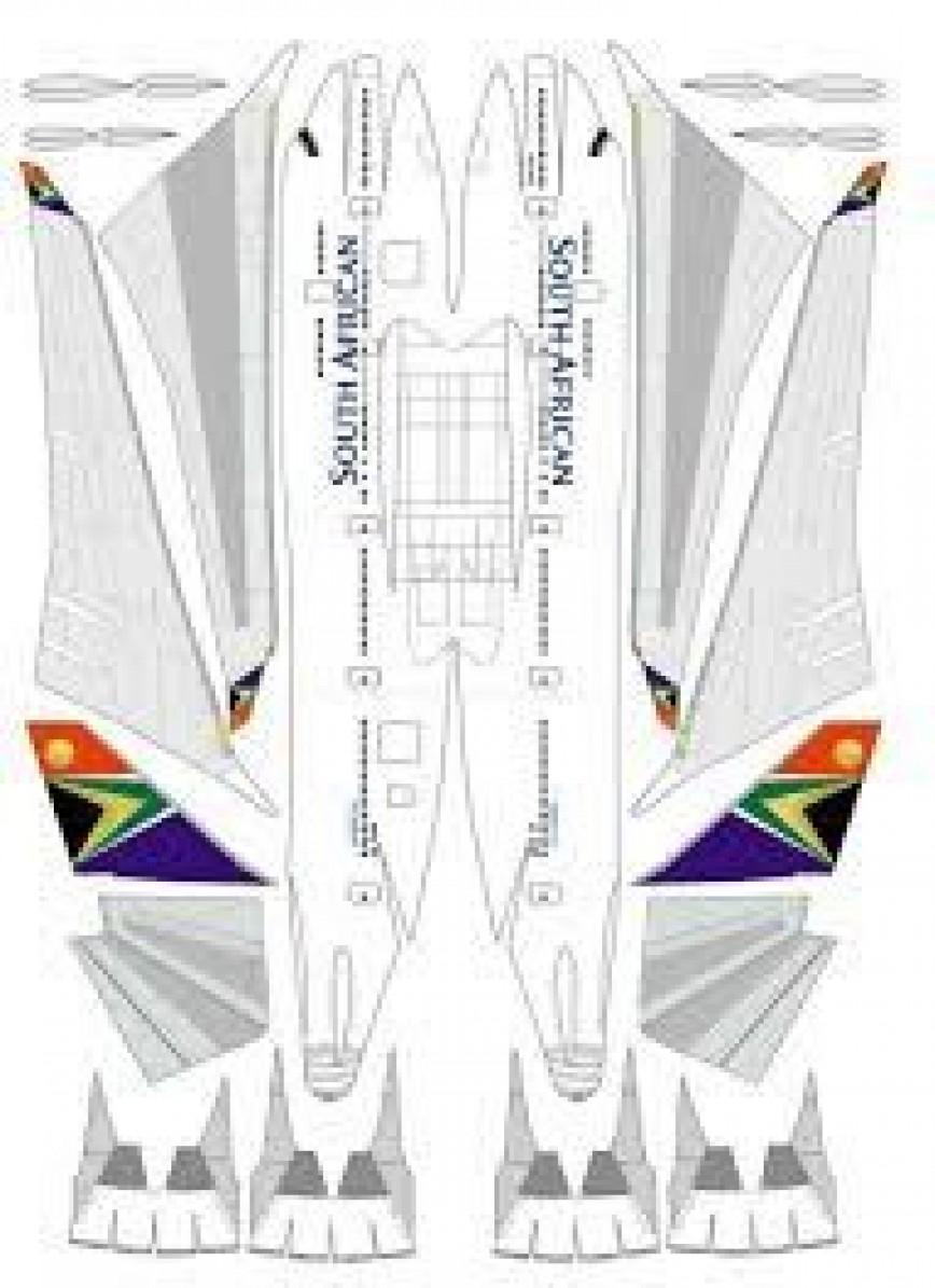 005 Fearsome Printable Paper Plane Plan Photo  Plans Model Template Instruction Free Airplane Pattern