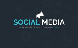 005 Fearsome Social Media Powerpoint Template Free High Resolution  Strategy Trend 2017 - Report