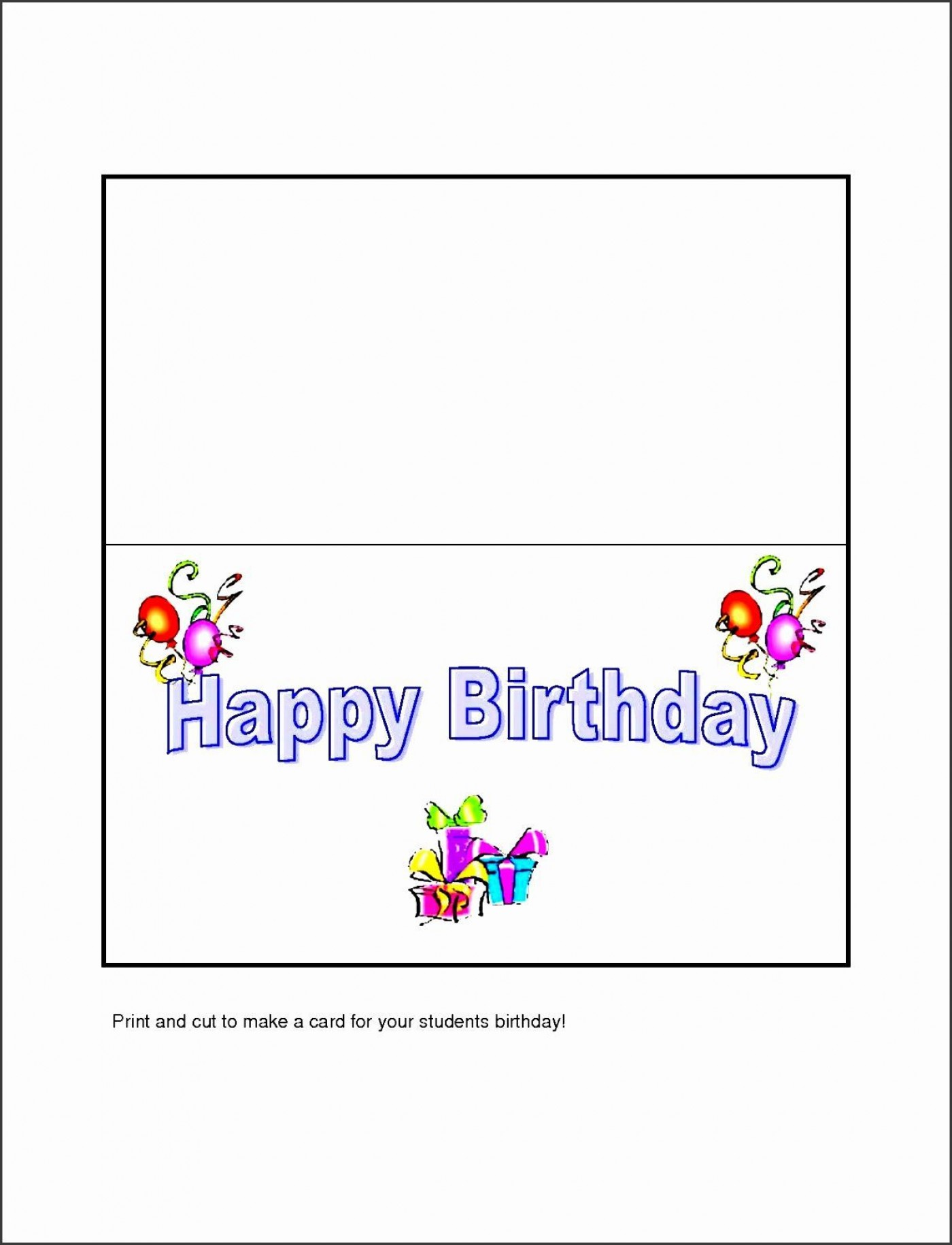 005 Fearsome Template For Birthday Card Photo  Microsoft Word Design Happy1400