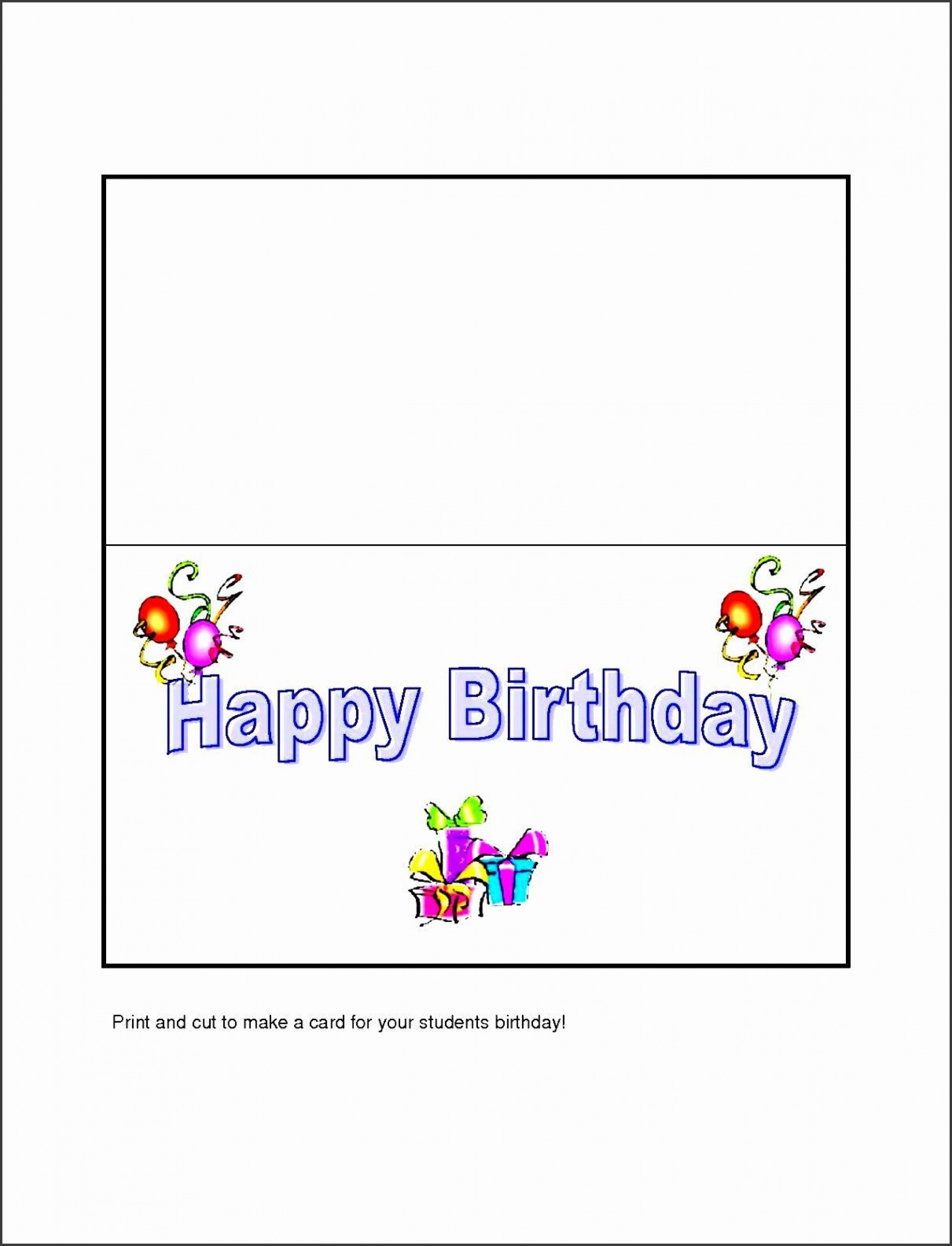 005 Fearsome Template For Birthday Card Photo  Happy Invitation1920