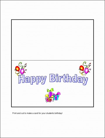 005 Fearsome Template For Birthday Card Photo  Microsoft Word Design Happy360