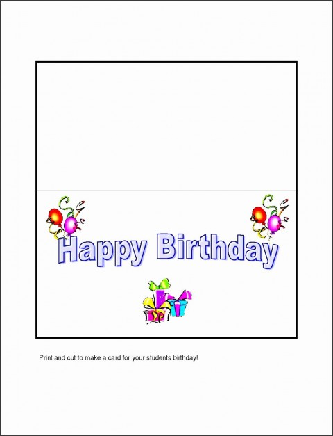 005 Fearsome Template For Birthday Card Photo  Microsoft Word Design Happy480