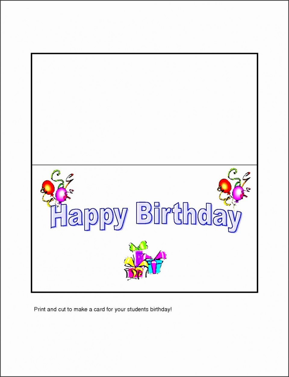 005 Fearsome Template For Birthday Card Photo  Microsoft Word Design Happy960