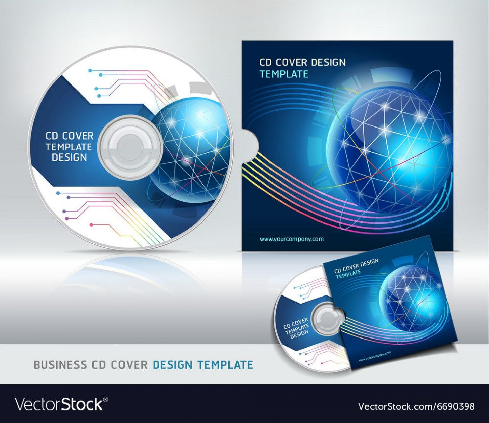005 Fearsome Vector Cd Cover Design Template Free 1920