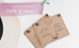 005 Fearsome Wedding Order Of Service Template Word High Definition  Free Microsoft