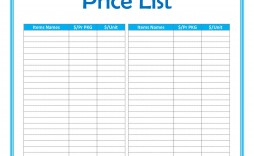 005 Fearsome Wholesale Price List Template Photo  Bakery