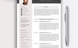 005 Fearsome Word Resume Template 2020 Sample  Microsoft M