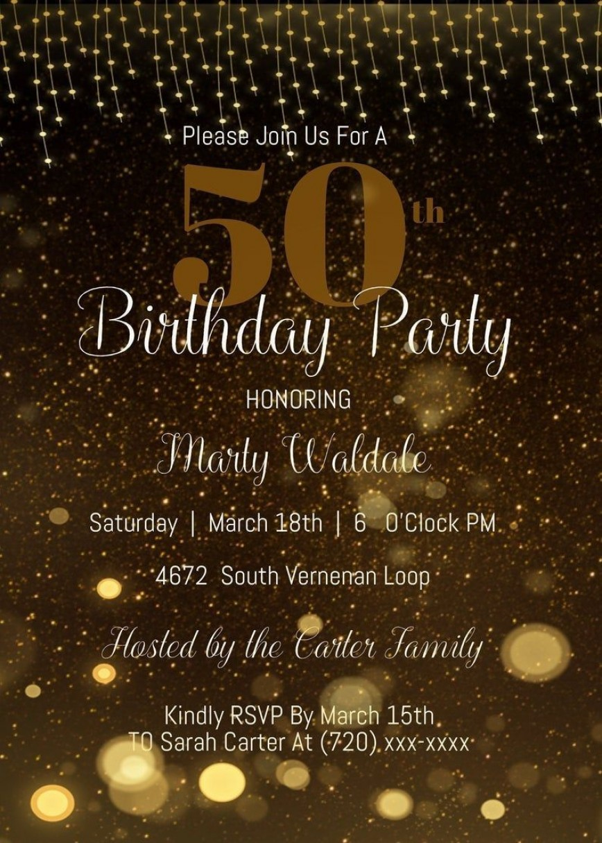 005 Formidable 50th Birthday Invitation Template High Resolution  Wedding Anniversary Microsoft Word