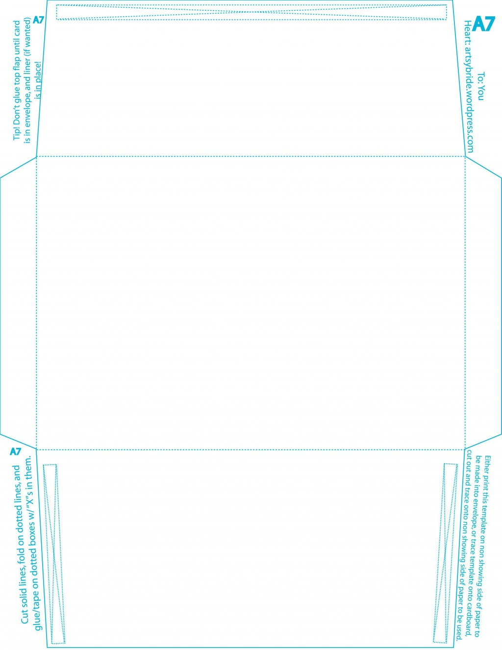 005 Formidable A7 Envelope Liner Template Square Flap Picture Large