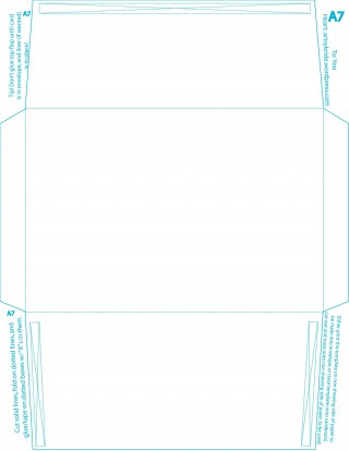 005 Formidable A7 Envelope Liner Template Square Flap Picture 320