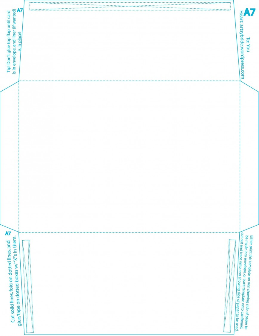 005 Formidable A7 Envelope Liner Template Square Flap Picture 868