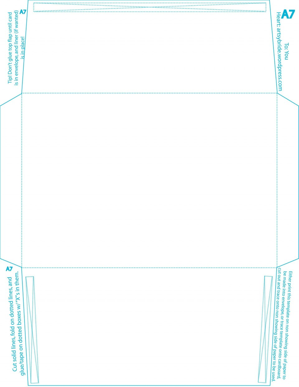 005 Formidable A7 Envelope Liner Template Square Flap Picture 960