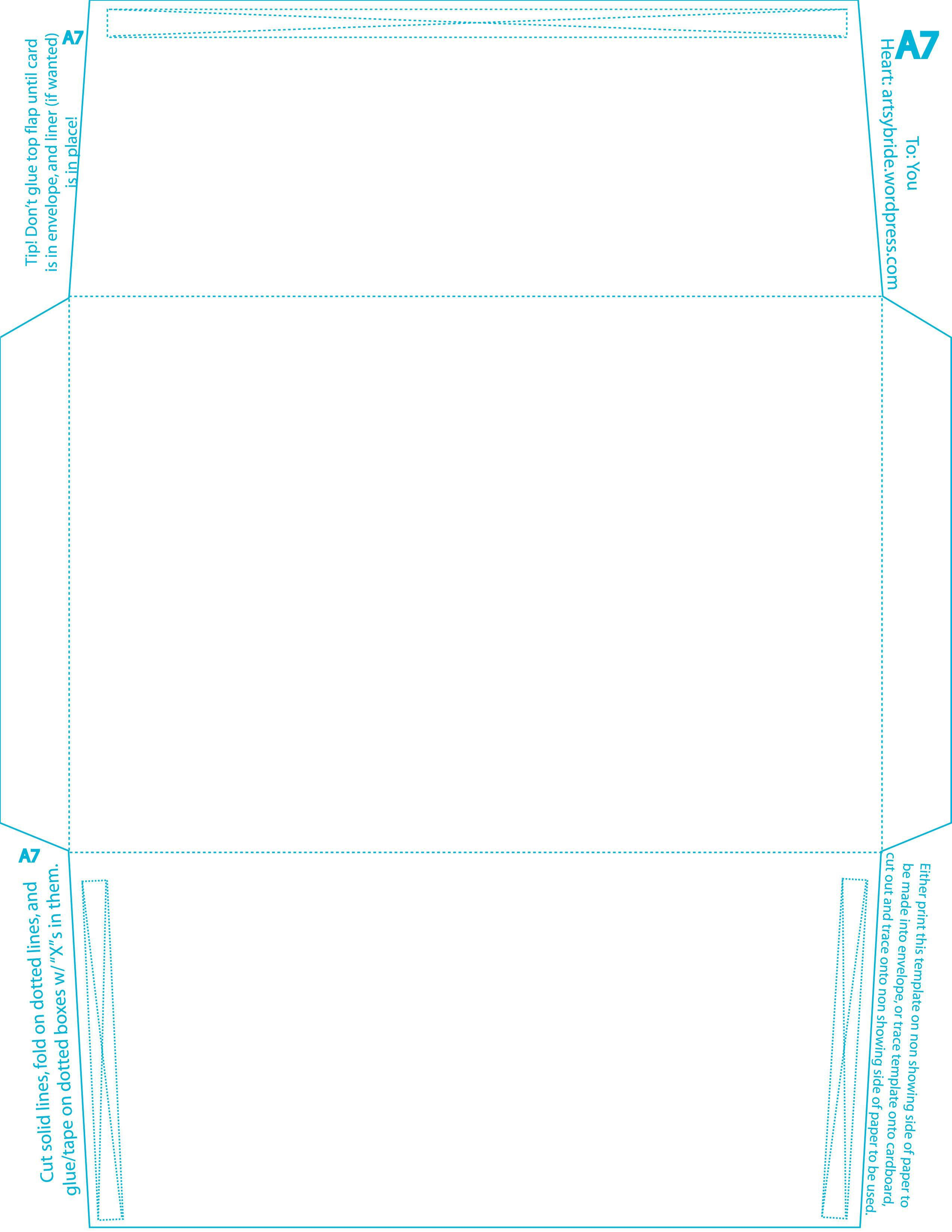 005 Formidable A7 Envelope Liner Template Square Flap Picture Full