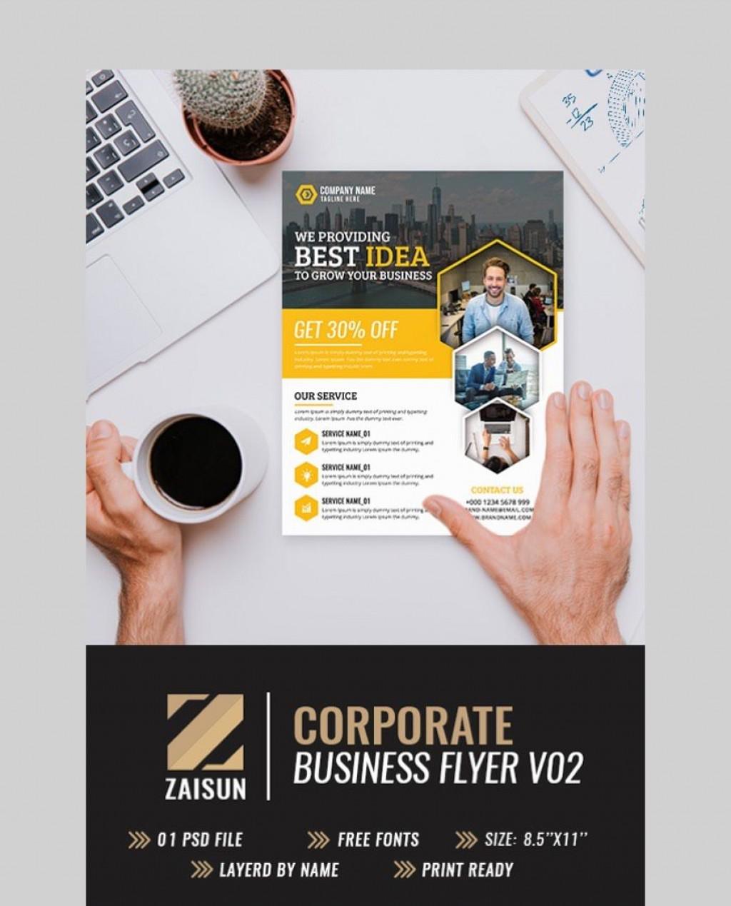 005 Formidable Busines Flyer Template Free Inspiration  Psd 2018 Vector Brochure TrainingLarge