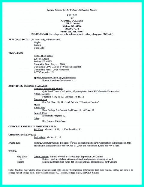 005 Formidable College Admission Resume Template Sample  Microsoft Word Application Download480