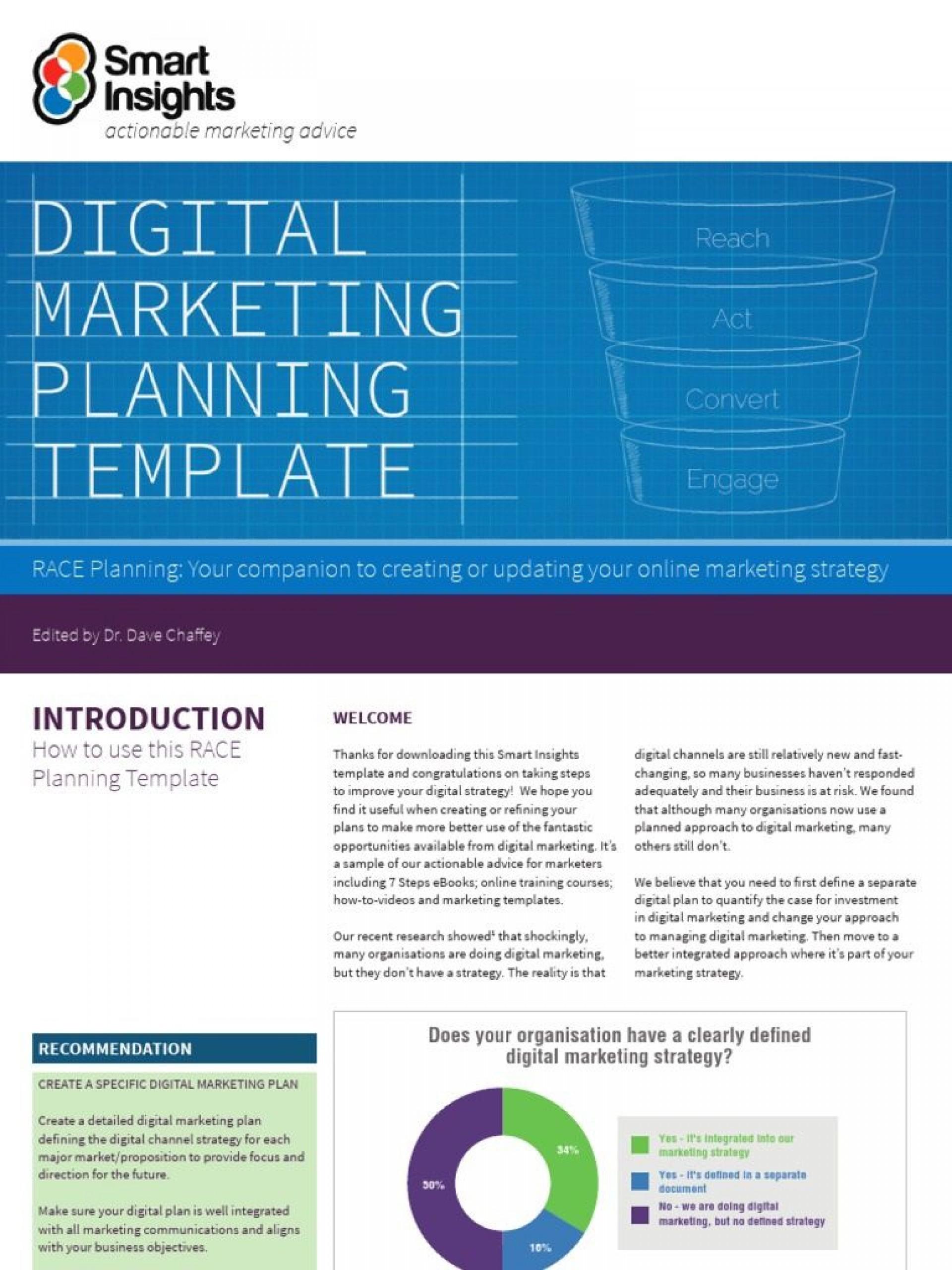 005 Formidable Digital Marketing Plan Example Pdf Highest Quality  Free Template Busines Sample1920