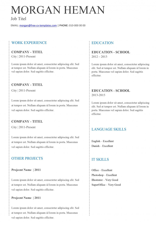 005 Formidable Easy Resume Template Free Image  Simple Download Online WordLarge