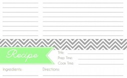 005 Formidable Fillable Recipe Card Template Idea  For Word Free