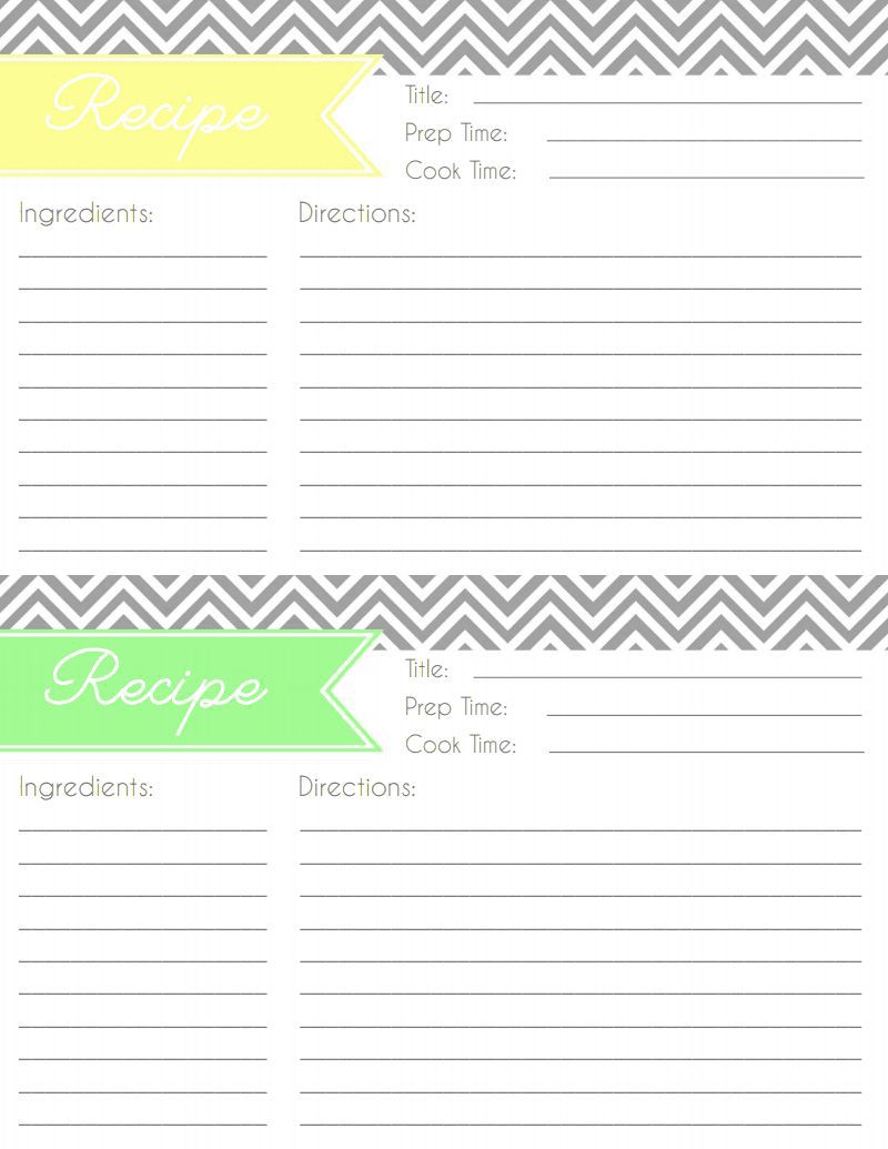 005 Formidable Fillable Recipe Card Template Idea  For Word FreeFull