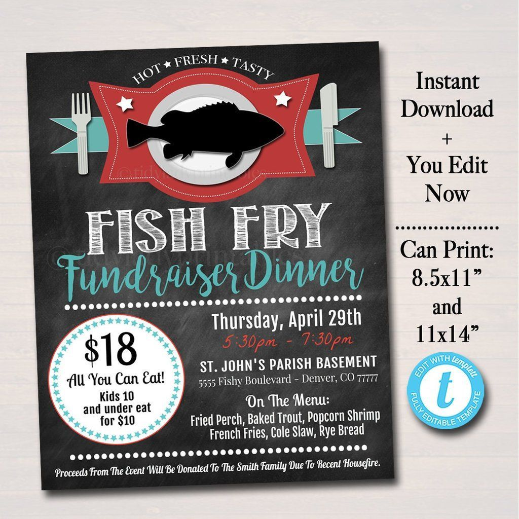 005 Formidable Fish Fry Flyer Template Inspiration  Printable Free Powerpoint PsdFull
