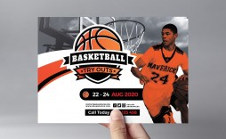 005 Formidable Free Basketball Flyer Template Idea  Tryout Event Word