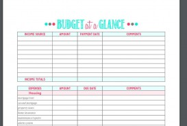 005 Formidable Free Printable Home Budget Template Image  Sheet Form