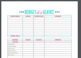 005 Formidable Free Printable Home Budget Template Image  Form Sheet320
