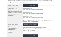 005 Formidable Good Resume Template Free Sample  Best Download Word Professional