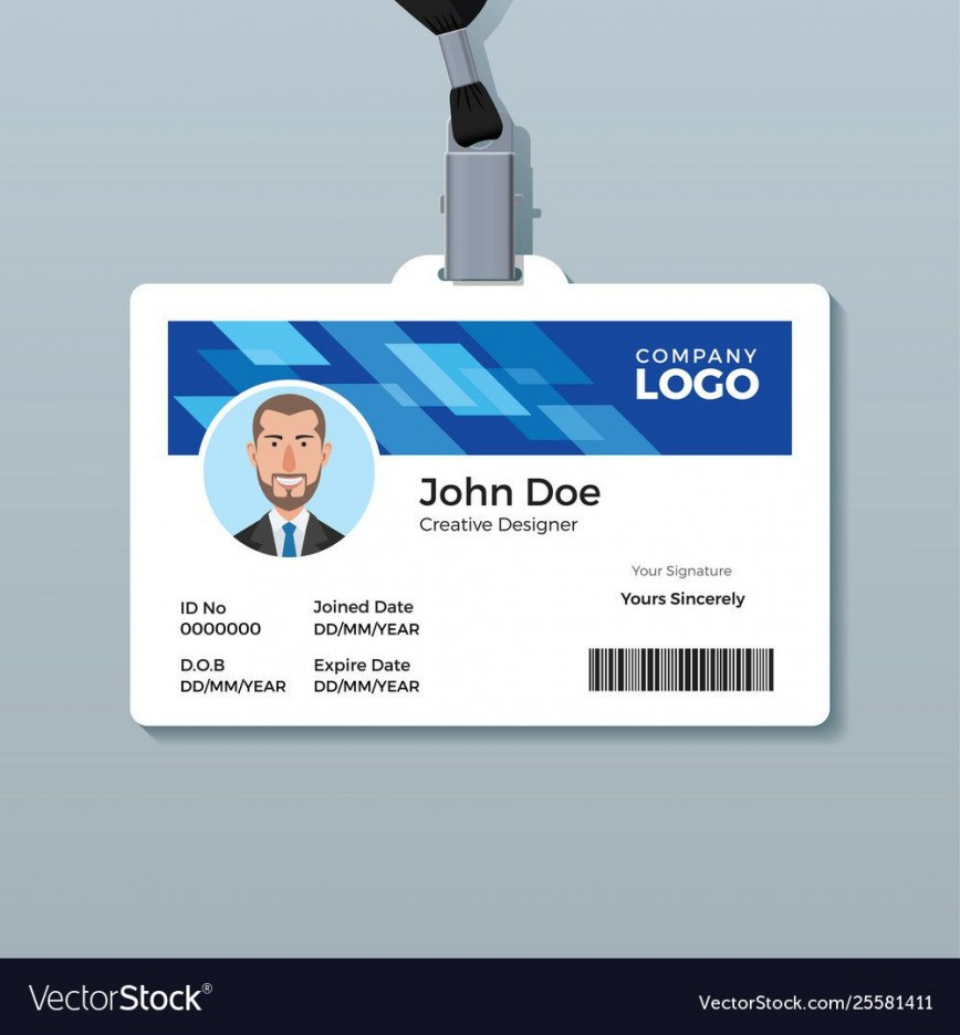 005 Formidable Id Badge Template Free Picture  Employee Download Teacher
