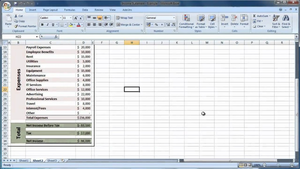 005 Formidable Income Statement Excel Template Image  Quarterly Simple Personal ExpenseLarge