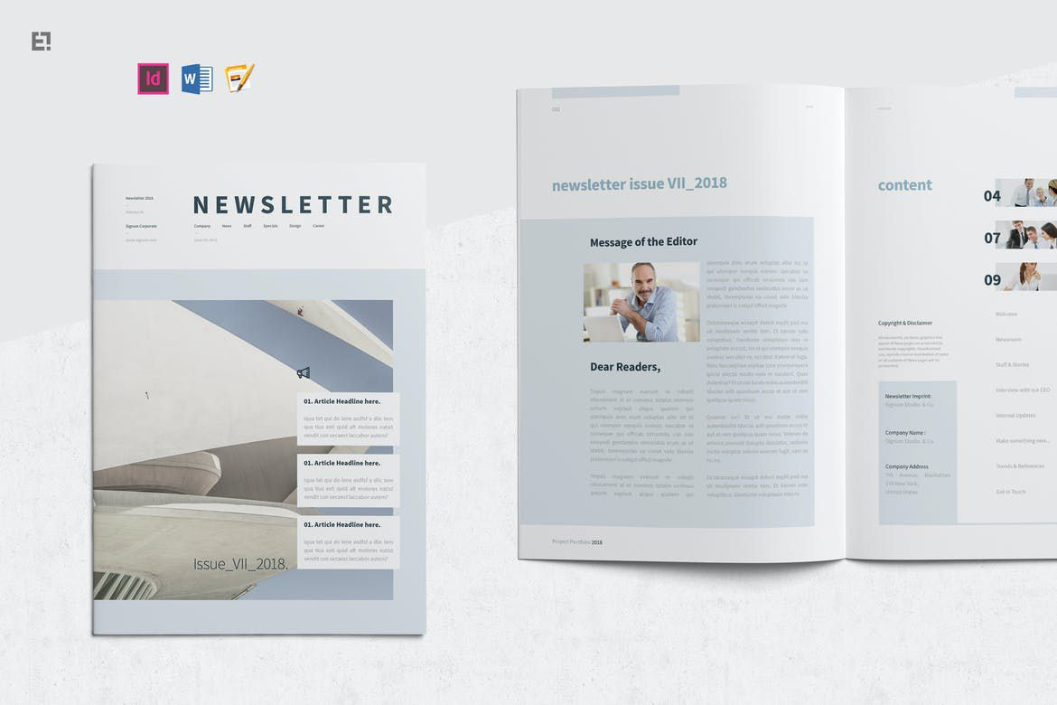005 Formidable Indesign Cs6 Newsletter Template Free Download Sample Full