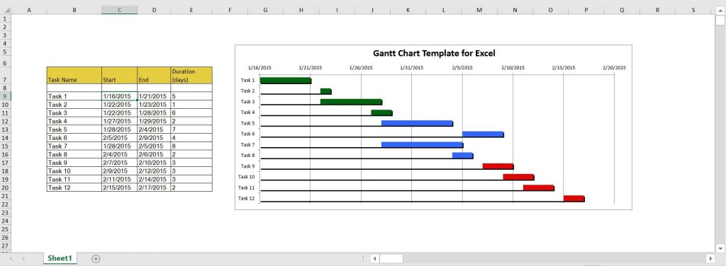005 Formidable Microsoft Excel Gantt Chart Template Highest Clarity  Project Planner In Simple Free DownloadLarge