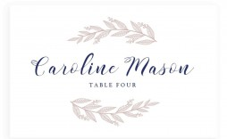 005 Formidable Name Place Card Template For Wedding Highest Clarity  Free Word